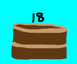 Coolest 18th bday cake you can create ;D