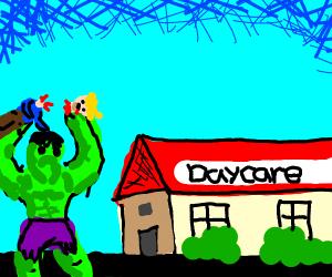 Hulk Kills baby at daycare
