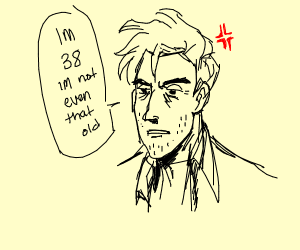 An old man face
