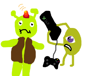 Shrek gets hit with an Xbox 360