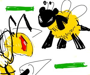 bee sheep VS. bee drill