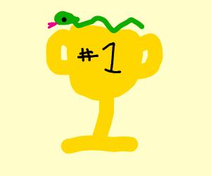 Snake on a trophy