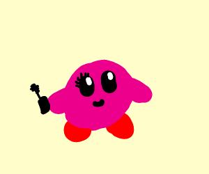 Kirby Put Mascara On His Right Eye