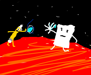 paper and pencil fight on mars