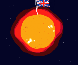 The sun belongs to Britain.