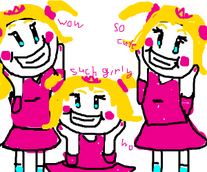 3 girly girls