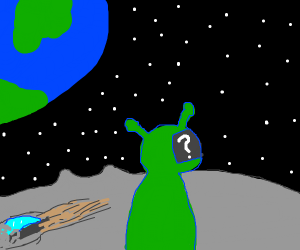 Alien questions location on the moon