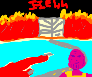 thanos in hell