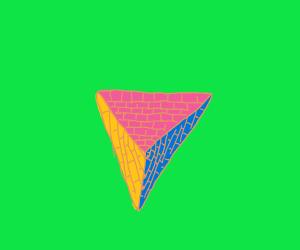 Triangular base pyramid