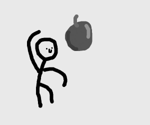 Throwing A Giant Cherry