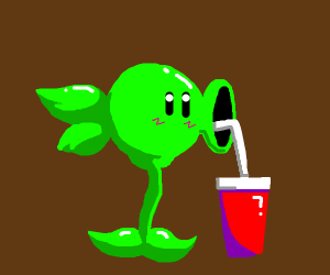 The peashooter gets the succ