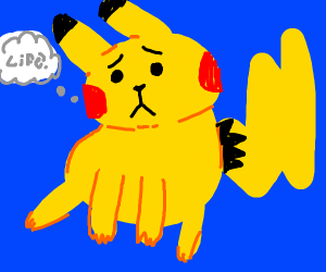 Chubby pikachu is confused about life