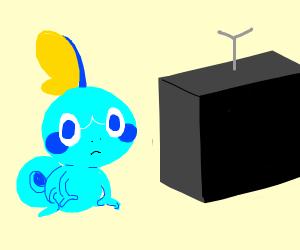 sobble watching tv