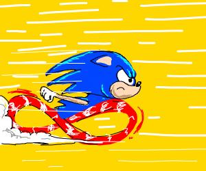 Sonic's gotta fast!