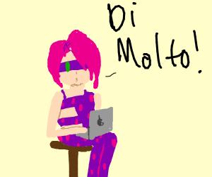 melone got a macbook