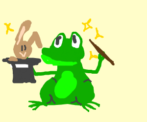 frog is a magician