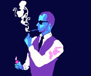 guy smokeing