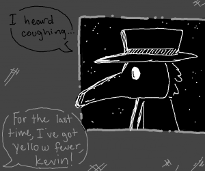 Plague Doctor looking through the window