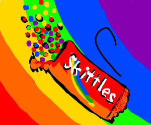 Skittles but in a gay explosion