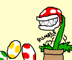 piranha plant is hungry