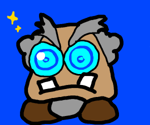 Professor Frankly (an old scientist Goomba)