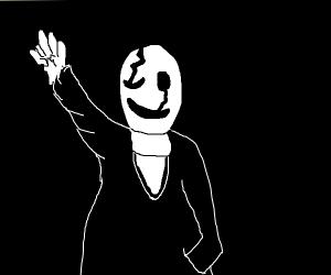 Gaster from Undertale waving
