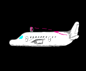 paint bucket on airplane