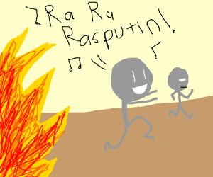 Ra Ra Rasputin, Russians Run From Fire