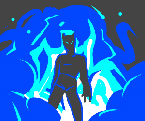 Cool blue explosion