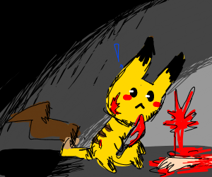 You caught Pikachu in the act