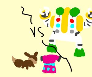 Regigigas vs Eevee and Snubbull
