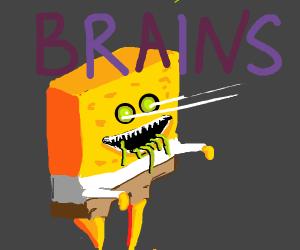 spongebob zombie saying brains