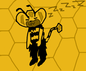 A monkey and a bee combined