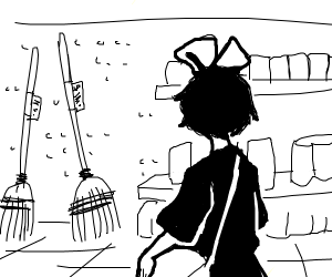 witch goes broom shopping