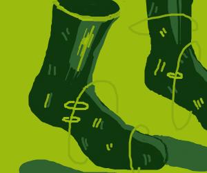 a walking pair of socks