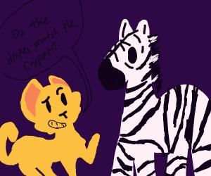 horny cat wants to f zebra
