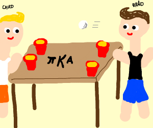 The bros play pong