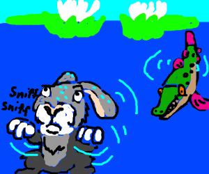 "Rabbit smells something ""fishy"""