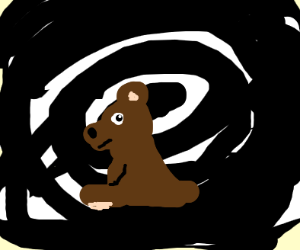 Bear sittin in the void