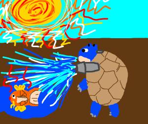 Blastoise helps magikarp