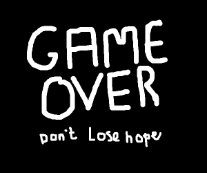 "The video game""GAME OVER""screen"