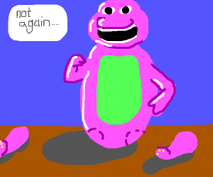 barney the dinosaur has no legs