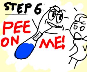 step 5 take pregnancy test in bathroom