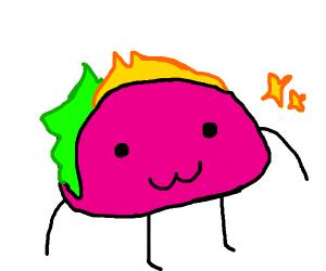 A pink taco