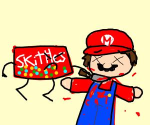 Skittles murdering mario