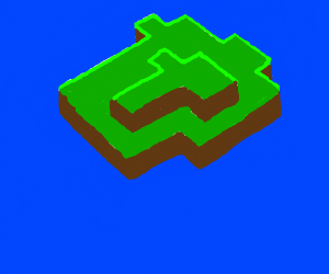 isometric minecraft