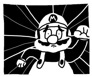 Mario running scared