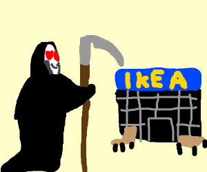 the grim reaper is an ikea fan