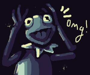 suprised kermit