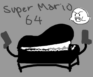 piano from super mario 64 has gun